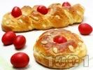 Рецепта Домашен козунак с локум и орехи